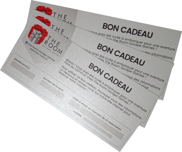 bon cadeau the room escape game carton